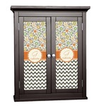 Swirls, Floral & Chevron Cabinet Decal - Custom Size (Personalized)