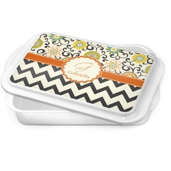 Swirls, Floral & Chevron Cake Pan (Personalized)