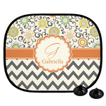 Swirls, Floral & Chevron Car Side Window Sun Shade (Personalized)
