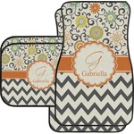 Swirls, Floral & Chevron Car Floor Mats (Personalized)