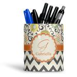 Swirls, Floral & Chevron Ceramic Pen Holder