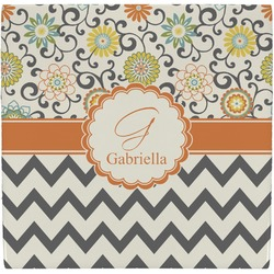 Swirls, Floral & Chevron Ceramic Tile Hot Pad (Personalized)