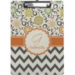 Swirls, Floral & Chevron Clipboard (Personalized)