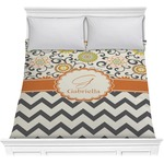Swirls, Floral & Chevron Comforter (Personalized)