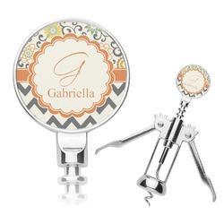 Swirls, Floral & Chevron Corkscrew (Personalized)