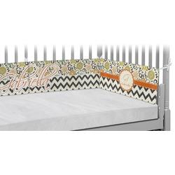 Swirls, Floral & Chevron Crib Bumper Pads (Personalized)