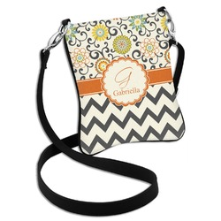 Swirls, Floral & Chevron Cross Body Bag - 2 Sizes (Personalized)