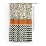 Swirls, Floral & Chevron Curtain (Personalized)