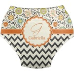 Swirls, Floral & Chevron Diaper Cover (Personalized)