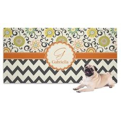 Swirls, Floral & Chevron Pet Towel (Personalized)