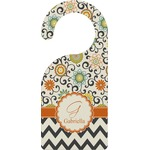 Swirls, Floral & Chevron Door Hanger (Personalized)
