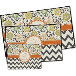 Swirls, Floral & Chevron Door Mat (Personalized)