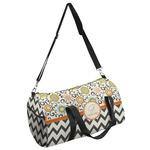 Swirls, Floral & Chevron Duffel Bag (Personalized)