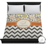 Swirls, Floral & Chevron Duvet Cover (Personalized)