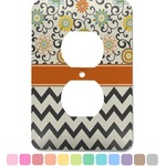 Swirls, Floral & Chevron Electric Outlet Plate (Personalized)