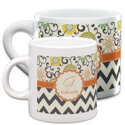 Swirls, Floral & Chevron Espresso Cups (Personalized)