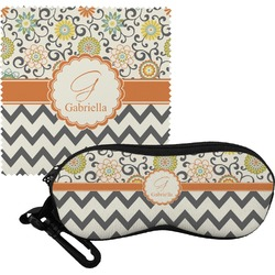 Swirls, Floral & Chevron Eyeglass Case & Cloth (Personalized)