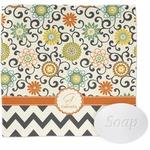 Swirls, Floral & Chevron Wash Cloth (Personalized)