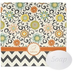 Swirls, Floral & Chevron Wash Cloth (Personalized)