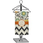 Swirls, Floral & Chevron Finger Tip Towel - Full Print (Personalized)