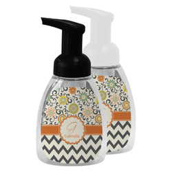 Swirls, Floral & Chevron Foam Soap Bottle (Personalized)