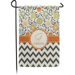 Swirls, Floral & Chevron Garden Flag - Single or Double Sided (Personalized)