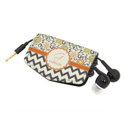 Swirls, Floral & Chevron Genuine Leather Cord Wrap (Personalized)
