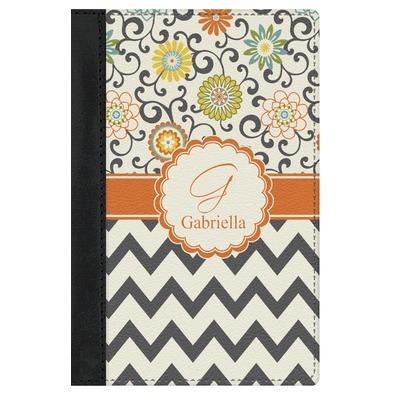 Swirls, Floral & Chevron Genuine Leather Passport Cover (Personalized)