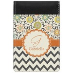 Swirls, Floral & Chevron Genuine Leather Small Memo Pad (Personalized)