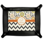 Swirls, Floral & Chevron Genuine Leather Valet Tray (Personalized)