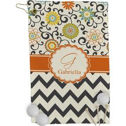 Swirls, Floral & Chevron Golf Towel - Full Print (Personalized)