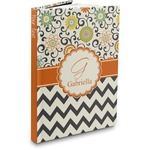 Swirls, Floral & Chevron Hardbound Journal (Personalized)