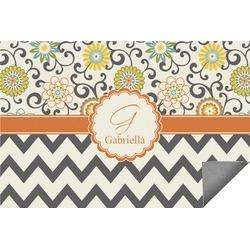 Swirls, Floral & Chevron Indoor / Outdoor Rug (Personalized)