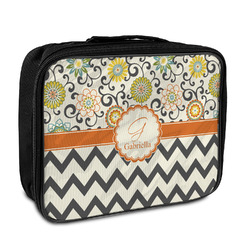 Swirls, Floral & Chevron Insulated Lunch Bag (Personalized)