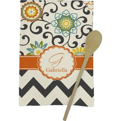 Swirls, Floral & Chevron Kitchen Towel - Full Print (Personalized)