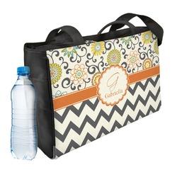 Swirls, Floral & Chevron Ladies Workout Bag (Personalized)