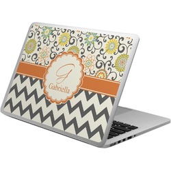 Swirls, Floral & Chevron Laptop Skin - Custom Sized (Personalized)
