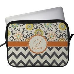 "Swirls, Floral & Chevron Laptop Sleeve / Case - 12"" (Personalized)"