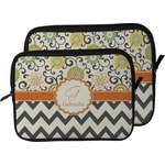 Swirls, Floral & Chevron Laptop Sleeve / Case (Personalized)