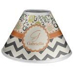 Swirls, Floral & Chevron Coolie Lamp Shade (Personalized)