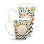 Swirls, Floral & Chevron Latte Mug (Personalized)