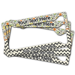 Swirls, Floral & Chevron License Plate Frame (Personalized)