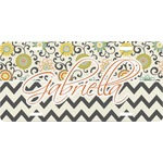Swirls, Floral & Chevron Front License Plate (Personalized)