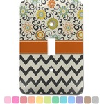 Swirls, Floral & Chevron Light Switch Cover (Single Toggle) (Personalized)