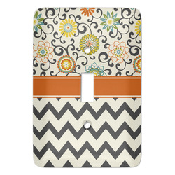 Swirls, Floral & Chevron Light Switch Covers (Personalized)