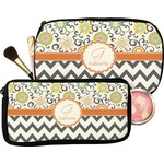 Swirls, Floral & Chevron Makeup / Cosmetic Bag (Personalized)