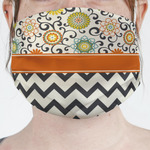 Swirls, Floral & Chevron Face Mask Cover (Personalized)