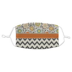 Swirls, Floral & Chevron Adult Cloth Face Mask (Personalized)