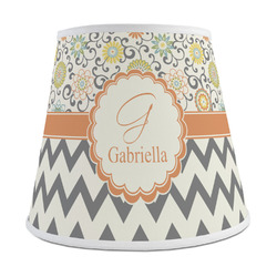 Swirls, Floral & Chevron Empire Lamp Shade (Personalized)