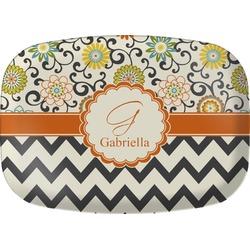 Swirls, Floral & Chevron Melamine Platter (Personalized)